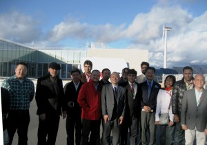 Mission participants during their visit to FREA to examine the latest wind and solar power technologies.