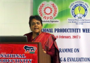 Kalpana Awasthi, Director General, NPC, delivering welcome remarks.