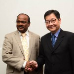 APO Secretary-General Dr. Santhi Kanoktanaporn and Mauritian Minister of Financial Services, Good Governance and Institutional Reforms Dharmendar Sesungkur