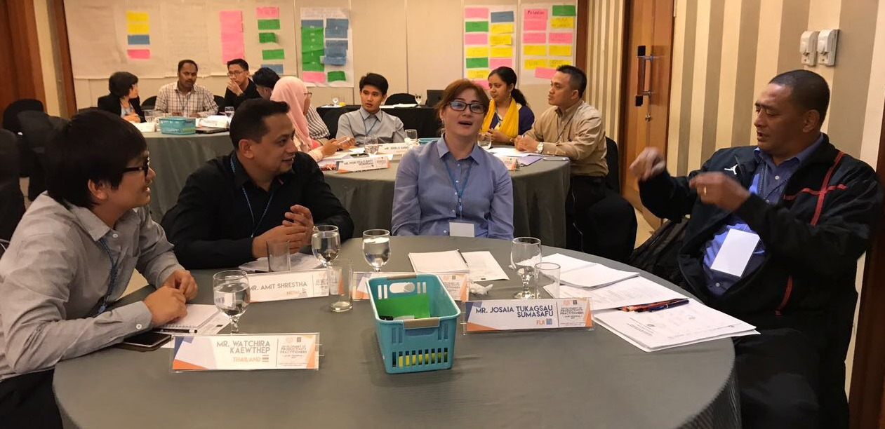 Participants in the group work session during the Development of Productivity Practitioners (DPP): Basic course.