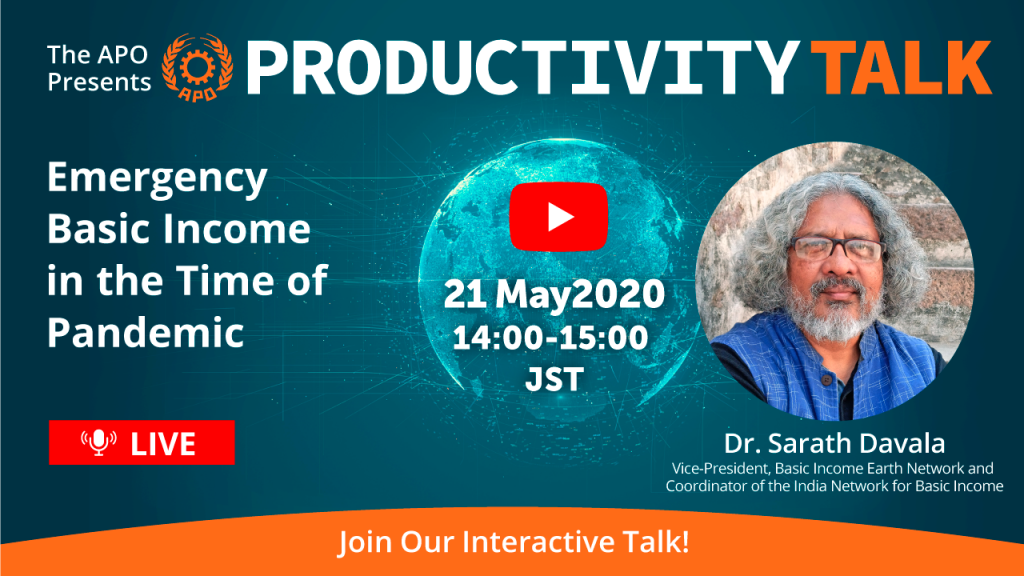 Emergency Basic Income in the Time of Pandemic_The APO presents Productivity Talk